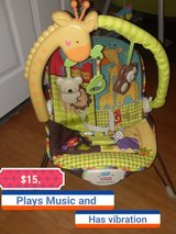 Fisher price Bouncer with features in Fort Knox, Kentucky