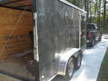 2016 14 x 7  dual axle rear ramp door  enclosed trailer in Byron, Georgia