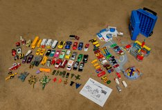 Lot of HotWheels, Matchbox, Assorted Vehicles, plus Ultimate Ford Complex in Oswego, Illinois