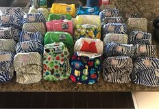 cloth diapers/extra inserts and wet bag in Fort Bliss, Texas