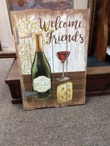 Welcome Friends sign in Oswego, Illinois