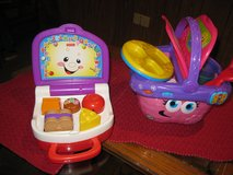 Leap Frog Picnic Basket & Fisher Price lunch box in Orland Park, Illinois