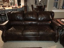 2 Louis Shanks Brown Leather Couch /Couches in Kingwood, Texas