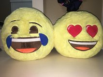 two emoji pillow piggy banks in Pearland, Texas