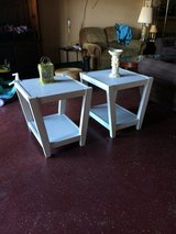 Lightly Distressed Wood Matching End Tables in Fort Polk, Louisiana