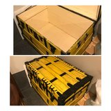 Antique steamer trunk. Yellow. in Bolingbrook, Illinois