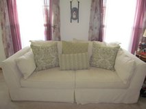 Ivory full size couch in Oswego, Illinois