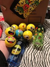 7 stress balls and 2 water bottles in Macon, Georgia