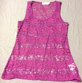 Purple lace and sequins medium tank top in Manhattan, Kansas