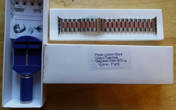 Apple Watch band 42mm men's silver and rose gold stainless steel band in Fort Campbell, Kentucky