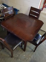 solid wood table with 4 chairs in Lakenheath, UK