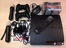 Playstation 3 250GB w/ controllers, games, remote in Ramstein, Germany