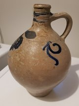 German pottery jug old 11 inches x 8 inches.  hand thrown in Ramstein, Germany