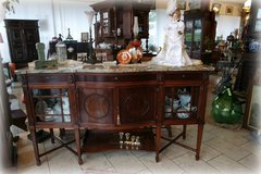 elegant mahagony buffet / side board with marble top in Spangdahlem, Germany