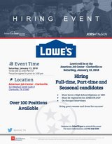 LOWE'S (Clarksville Store Locations) Hiring Event in Fort Campbell, Kentucky