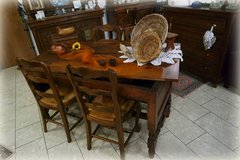 rustic country house dining room set with 4 chairs in Ramstein, Germany