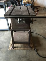 Vintage craftsman table saw (3/4hp 8in blade) works great in Fort Benning, Georgia
