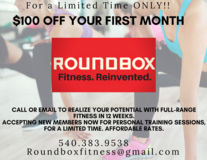Roundbox Fitness in Williamsburg, VA $100 OFF first month!! in Leesville, Louisiana
