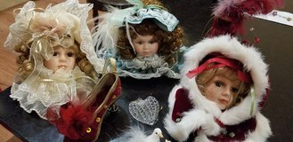 Porcelain Doll Head Ornaments in Perry, Georgia