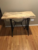 Awesome Unique Live Edge Top Singer Stand Table in Aurora, Illinois