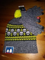 Skulls beanie with gloves set in Houston, Texas
