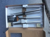 5 pc Stainless steel BBQ set in Travis AFB, California