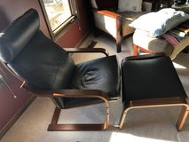 ikea chair and foot stool in Tinley Park, Illinois