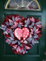 Mesh Lighted Valentine's Day Wreath in Plainfield, Illinois