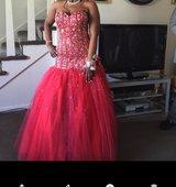Red Prom Dress from Peaches in Tinley Park, Illinois