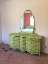 French provincial dresser, mirror, w/head and footboard in Macon, Georgia