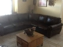 Ashley leather sectional in Fort Bliss, Texas