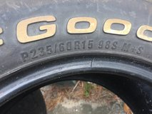 Tires used but useable 2 at $100 for the pair, come and get them. in Beaufort, South Carolina