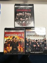 Expendables 1,2 & 3 4K DVD in Okinawa, Japan