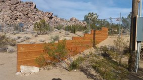 Wood Fencing Constructed. in Yucca Valley, California
