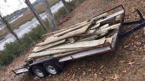 Salvage used treated lumber in Beaufort, South Carolina