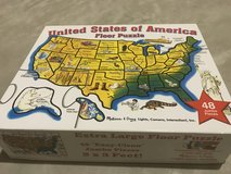 United States of America floor puzzle 2*3 feet in St. Charles, Illinois