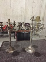 2silver candelabras with 5candle holders each in Oswego, Illinois
