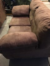 Tan Microfiber Couch and Love Seat in Camp Lejeune, North Carolina