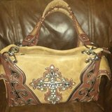 Tan & Brown Cross Purse in Cleveland, Texas
