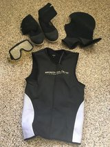 Scuba Body Glove wetsuit shirt, boots, mask in Camp Pendleton, California