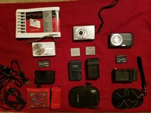 Lot of 3 digital Cameras w/ batteries & chargers in Fort Knox, Kentucky