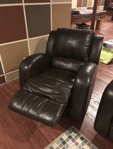 Brown Leather Recliner in Bolingbrook, Illinois