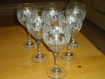 6 winter scene wine glasses in Oswego, Illinois