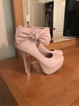 CHARLOTTE RUSSE PALE PINK HEELS - SIZE 8 in Aurora, Illinois