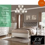 SILVER QUEEN SIZE BED FRAME FREE DELIVERY in Camp Pendleton, California