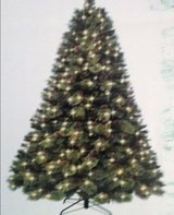Artificial Christmas Tree 7.5ft tall (pre-lit) in Stuttgart, GE