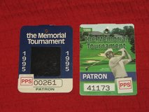 2 Memorial Golf Tournament Patron Badges '95 & '99 Tiger Woods Norman in Bolingbrook, Illinois