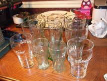 10 COCA COLA GLASSES   6 LRG   2 MED      2 SMALL in Perry, Georgia