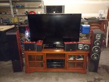 """Complete Home Theater (55"""" HDTV, audio receiver, 7 speakers, TV stand) [will also sell pieces in... in Fort Lewis, Washington"""