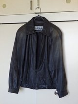 Real Leather Jacket - Used in Okinawa, Japan